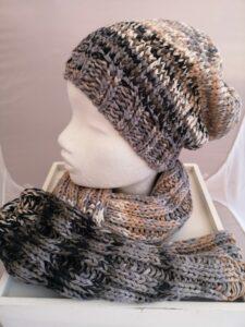 KundInnenprojekt Mütze und Schal Bandy color