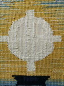 Zentralmotiv gewebtes Wandbild
