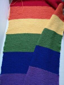 KundInnenprojekt Babydecke Regenbogenflagge Gesamtansicht