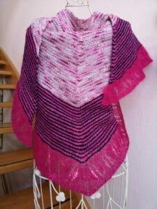 Himinbjorg pink-blau als Halstuch